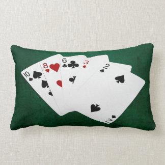 Poker Hands - High Card - Ten Lumbar Pillow