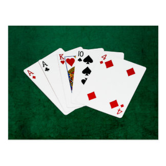 Poker Hands - One Pair - Ace Postcard