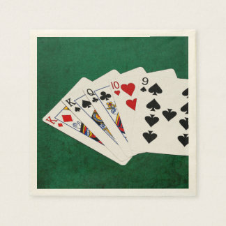 Poker Hands - One Pair - King Paper Napkin