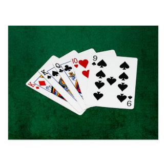 Poker Hands - One Pair - King Postcard