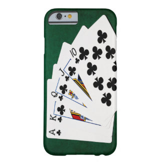 Poker Hands - Royal Flush - Clubs Suit Barely There iPhone 6 Case