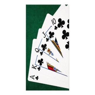 Poker Hands - Royal Flush - Clubs Suit Card