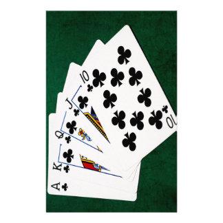 Poker Hands - Royal Flush - Clubs Suit Flyer