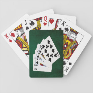 Poker Hands - Royal Flush - Clubs Suit Playing Cards