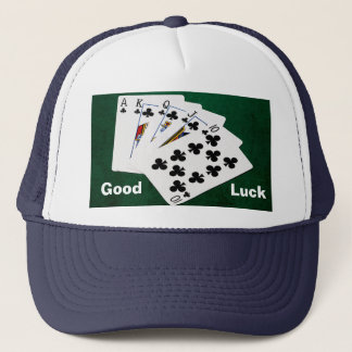 Poker Hands - Royal Flush - Clubs Suit Trucker Hat