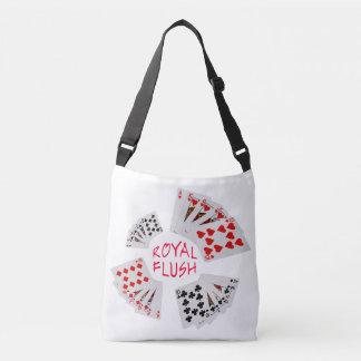 Poker Hands - Royal Flush Crossbody Bag