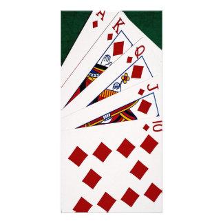 Poker Hands - Royal Flush - Diamonds Suit Card
