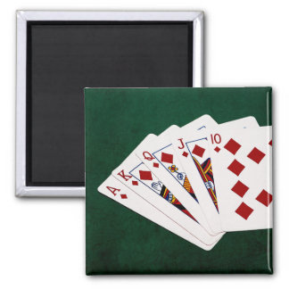 Poker Hands - Royal Flush - Diamonds Suit Magnet