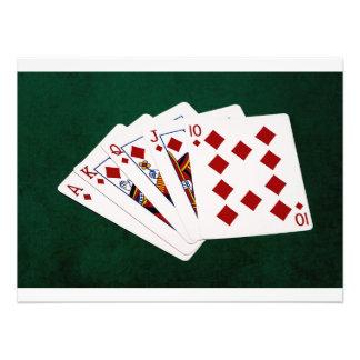 Poker Hands - Royal Flush - Diamonds Suit Photo Print