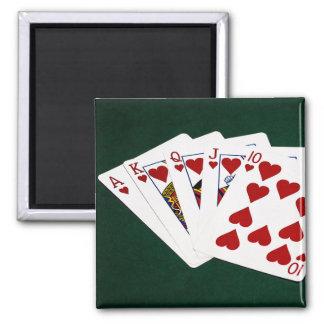 Poker Hands - Royal Flush - Hearts Suit Magnet
