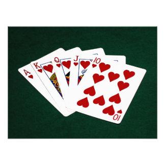 Poker Hands - Royal Flush - Hearts Suit Photo Print