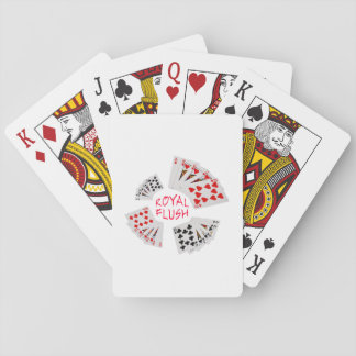 Poker Hands - Royal Flush Playing Cards
