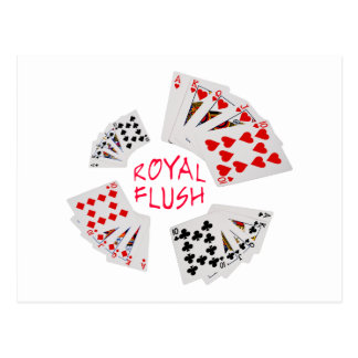 Poker Hands - Royal Flush Postcard