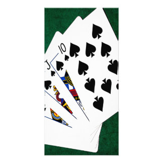 Poker Hands - Royal Flush - Spades Suit Card