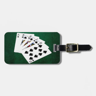 Poker Hands - Royal Flush - Spades Suit Luggage Tag