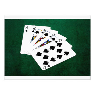 Poker Hands - Royal Flush - Spades Suit Photo Print