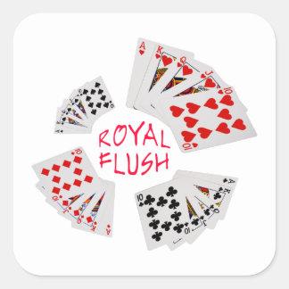 Poker Hands - Royal Flush Square Sticker