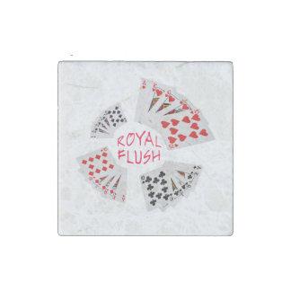 Poker Hands - Royal Flush Stone Magnet