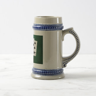 Poker Hands - Straight Flush - Clubs Suit Beer Stein