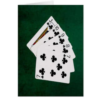 Poker Hands - Straight Flush - Clubs Suit Card