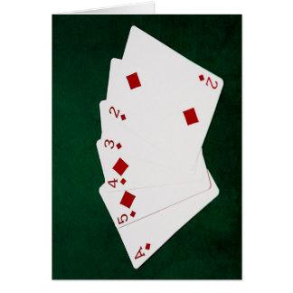 Poker Hands - Straight Flush - Diamonds Suit Card