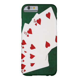 Poker Hands - Straight Flush - Hearts Suit Barely There iPhone 6 Case