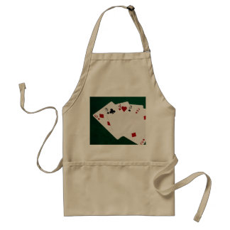 Poker Hands - Straight - Six To Two Adult Apron
