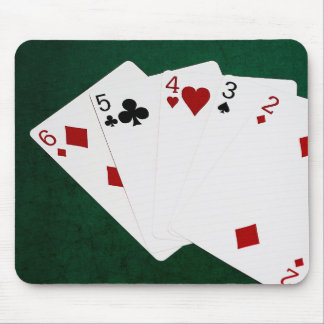 Poker Hands - Straight - Six To Two Mouse Pad