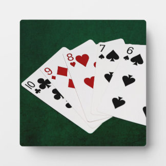 Poker Hands - Straight - Ten To Six Display Plaques