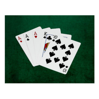 Poker Hands - Three Of A Kind - Ace Postcard