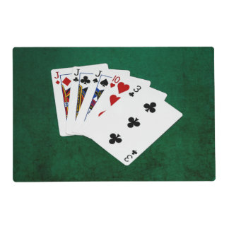 Poker Hands - Three Of A Kind - Jack Laminated Place Mat