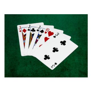 Poker Hands - Three Of A Kind - Jack Postcard