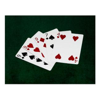 Poker Hands - Three Of A Kind - Nine Postcard