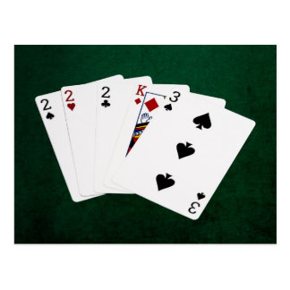 Poker Hands - Three Of A Kind - Two Postcard