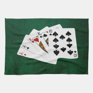 Poker Hands - Two Pair - Ace, King Hand Towel