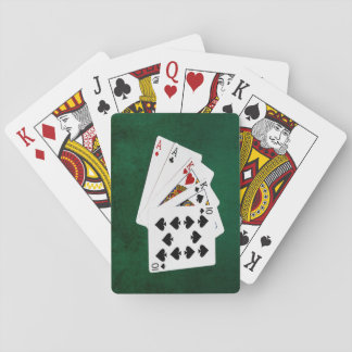 Poker Hands - Two Pair - Ace, King Playing Cards