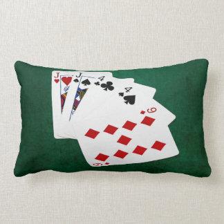 Poker Hands - Two Pair - Jack, Four Lumbar Pillow