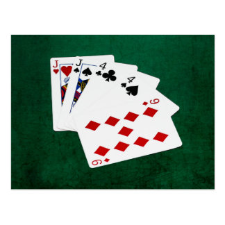 Poker Hands - Two Pair - Jack, Four Postcard