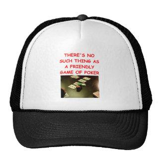 poker trucker hats