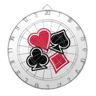 Poker heart spade diamond club dartboards