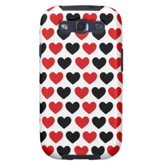 Poker Hearts in Black and Red Samsung Galaxy SIII Cases
