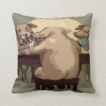 Poker Hogs Card Party Pillow