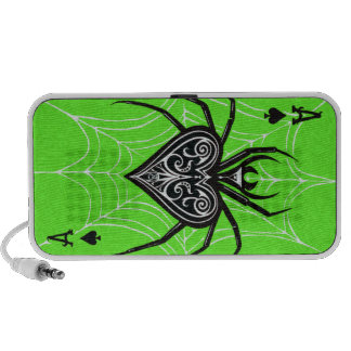 Poker Inspired ACE of SPIDERS Gambler Hour Portable Speakers