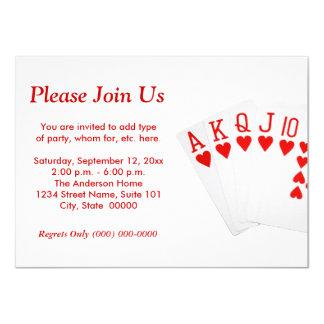 "Póker Invitación 4.5"" X 6.25"""