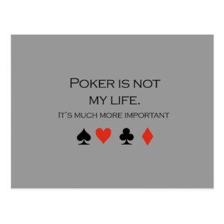 Poker is not my life T-shirt Postcard