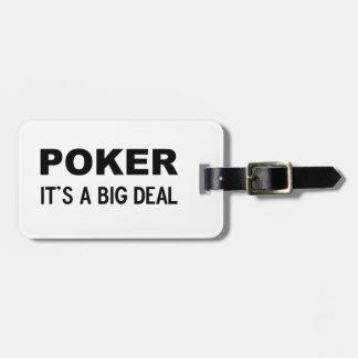 POKER It's a big deal Bag Tag
