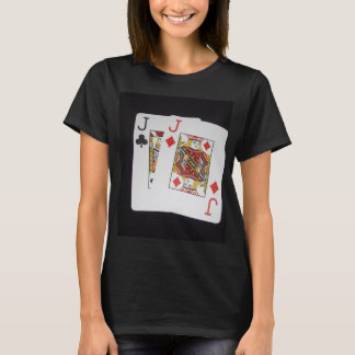 Poker,_Jacks,_Pockets,_Pair,_Ladies_Black_T-shirt. T-Shirt