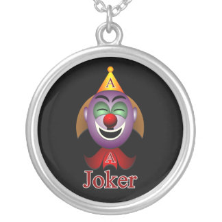 Poker Joker by rafi talby Silver Plated Necklace