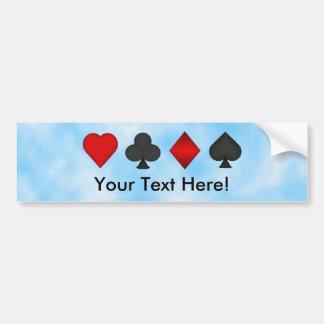 Póker: Juegos de la tarjeta: Pegatina para el para Pegatina De Parachoque