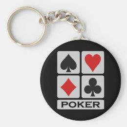 Poker keychain